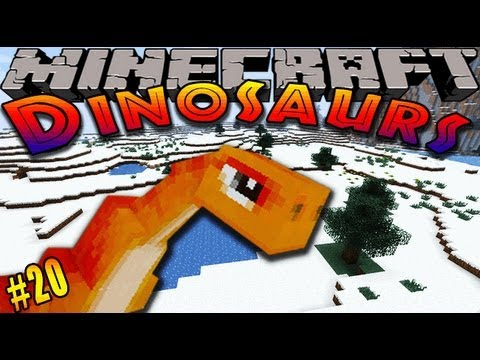Minecraft dinosaurs dinosaur mod episode 20 triceratops pen
