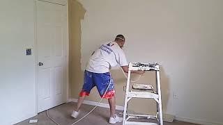 Błyskawiczne malowanie pokoju! Zajebista metoda malowania pokoju farbą pod ciśnieniem!