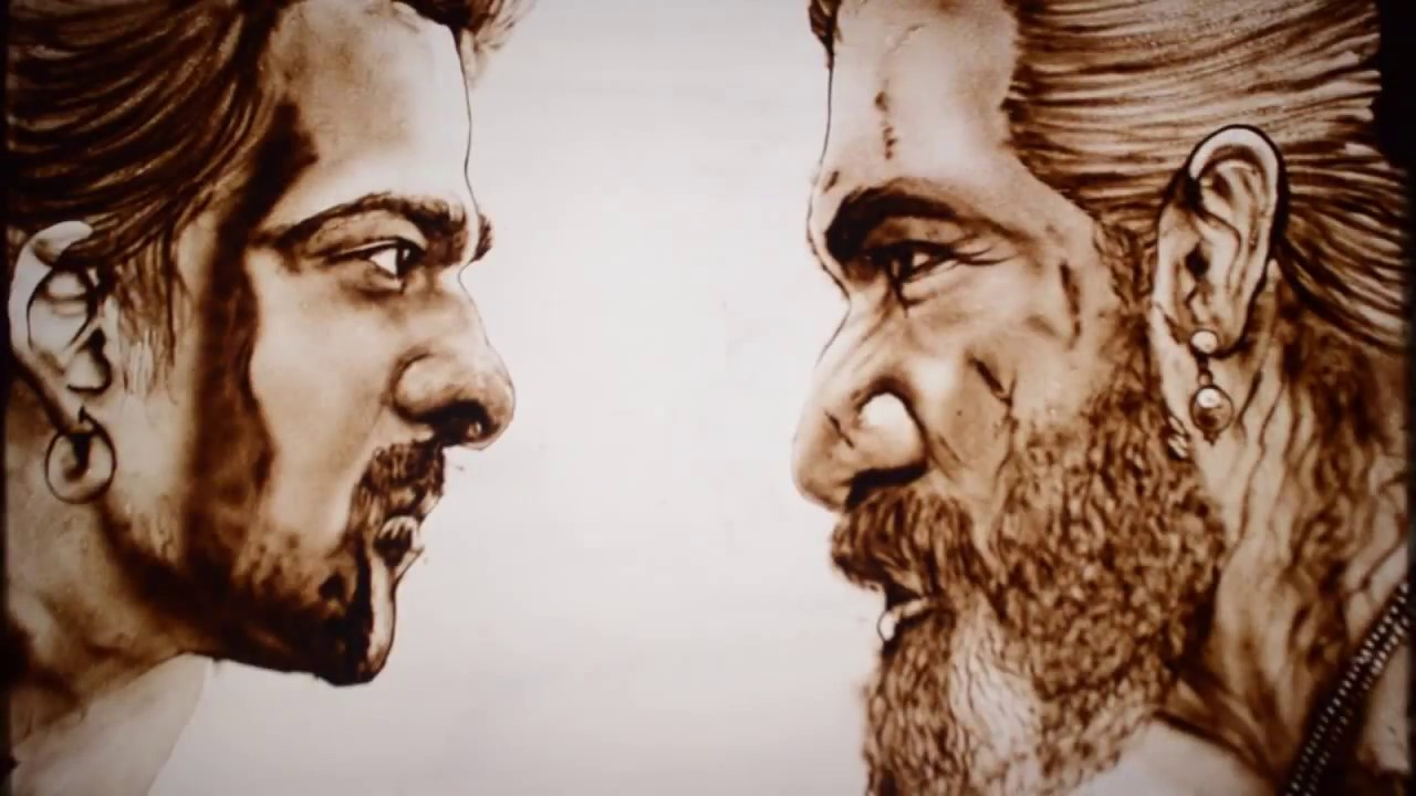 Sand Animation Art - India Baahubali movie Trailer