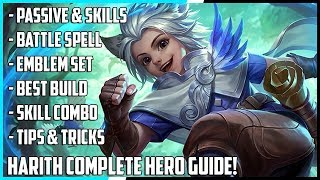 Video New Hero Harith Complete Guide! | Spells, Best Build, Skill Combo's, Tips & Tricks | Mobie Legends MP3, 3GP, MP4, WEBM, AVI, FLV Februari 2019