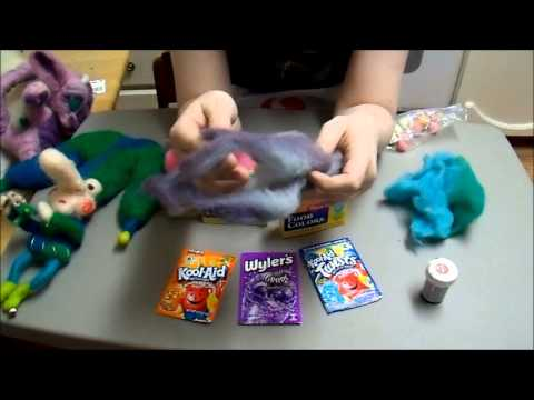 How to dye wool