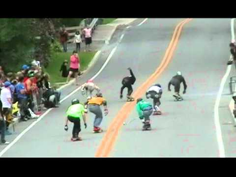 Downhill Racing Speed Wobble Fail