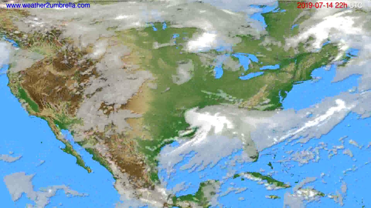 Cloud forecast USA & Canada // modelrun: 00h UTC 2019-07-12