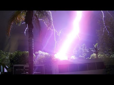 4+ MINUTES OF PEOPLE ALMOST STRUCK BY LIGHTNING