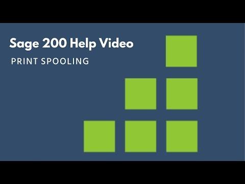 Sage 200 Help - Print Spooling