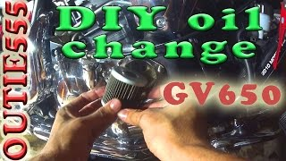 7. How to replace your oil and filter | #23 Hyosung GV650 Darwin NT Motoblog