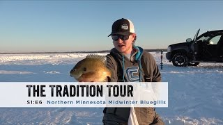 """In this episode of the Tradition Tour the boys meet up with John Hoyer and Greg Oppegard to catch some Midwinter Bluegills.Filmed and Edited by Sam SobieckJohn Hoyer's Pagehttps://www.facebook.com/HoyerFishing/Most products shown can be purchased at your nearest Gander Mountain that carries ice fishing gear.http://www.gandermountain.com/Jigs:Clam Pro Tackle Drop-Kick Jighttp://stores.clamoutdoors.com/clam/tackle/jigs/dave-genz-drop-kick.htmlClam Pro Tackle Snow Drophttp://stores.clamoutdoors.com/snow-drop-xl.htmlRods:DH Custom Rods Al Dente Noodlehttp://www.dhcustomrods.com/dh-ice-rodsDH Custom Rods Seven Deucehttp://www.dhcustomrods.com/dh-ice-rodsReels:Clam Elite Spoolerhttp://stores.clamoutdoors.com/clam/rods-reels/dave-genz-ice-spooler-elite-reel.htmlSuit:Ice Armor by Clam Lift Suit Bibshttp://www.gandermountain.com/modperl...Ice Armor by Clam Lift Suit Parkahttp://www.gandermountain.com/modperl...Flasher:Vexilar FLX-28http://www.gandermountain.com/modperl...Auger:8"""" K-Drill w/ Milwaukee M18 Fuelhttp://icefishingtoday.com/ice-fishin..."""