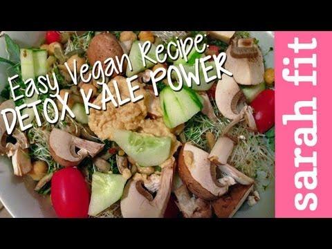 Easy Vegan Recipes: Detox Kale Power Salad