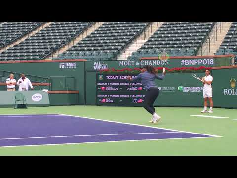 BNP Paribas Open 2018: Serena Williams First Practice