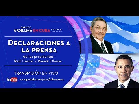 Declaraciones a la Prensa de los Presidentes Raúl Castro y Barack Obama