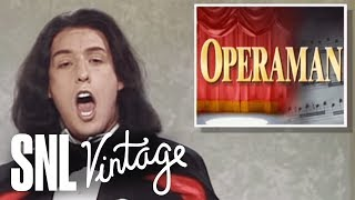Opera Man (Adam Sandler) sings about the week's top headlines including the ban being lifted on gays in the military, Vice President Gore's terrible dancing and Harry Connick Jr.'s arrest. [Season 18, 1993]Weekend Update Summer Edition, Thursday, August 10, live, at 9/8c on NBC. Get more SNL: http://www.nbc.com/saturday-night-liveFull Episodes: http://www.nbc.com/saturday-night-liv...Like SNL: https://www.facebook.com/snlFollow SNL: https://twitter.com/nbcsnlSNL Tumblr: http://nbcsnl.tumblr.com/SNL Instagram: http://instagram.com/nbcsnl SNL Pinterest: http://www.pinterest.com/nbcsnl/