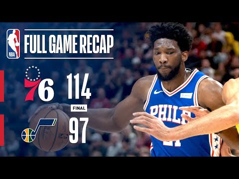 Video: Full Game Recap: 76ers VS Jazz | Sixers Top Jazz In Utah