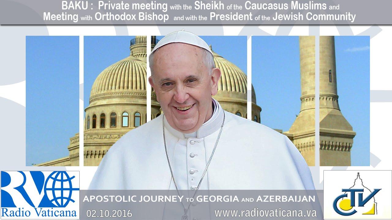 Encuentro interreligioso con el Jeque y con representantes de las demás comunidades religiosas del país