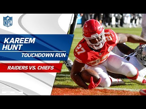 Video: Kareem Hunt's 1st TD in 9 Games Set Up by Hill & Kelce! | Raiders vs. Chiefs | NFL Wk 14