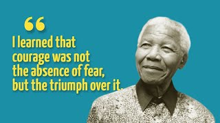 "Presenting Top Ten Most Inspiring Quotes from Nelson Mandela..............................................................Click to Subscribe - http://goo.gl/47SV9mShare on Facebook - http://goo.gl/Sh7jxsShare on Twitter - http://goo.gl/QdLYUNGoogle Plus - http://goo.gl/F0yD6W..............................................................Follow us on Twitter - https://twitter.com/toptenamazing..............................................................Top Ten Most Inspiring Nelson Mandela Quotes#10""If you want to make peace with your enemy, you have to work with your enemy. Then he becomes your partner""#9""Do not judge me by my successes, judge me by how many times I fell down and got back up again""#8""Courageous people do not fear forgiving, for the sake of peace""#7""When people are determined, they can overcome anything""#6""Resentment is like drinking poison and then hoping it will kill your enemies""#5""A good head and a good heart are always a formidable combination""#4""Education is the most powerful weapon which you can use to change the world""#3""I learned that courage was not the absence of fear, but the triumph over it. The brave man is not he who does not feel afraid, but he who conquers that fear""#2""A winner is a dreamer who never gives up""#1""It always seems impossible until it's done""..............................................................Note: Some quotes mentioned in this video may not be author's actual wording, but the paraphrased/summarized version of it...............................................................Music : 01Title: Into the WormholeContributing Artist: Jingle PunksAlbum: YouTube Audio Library02 Title: How it BeganContributing Artist: Silent PartnerAlbum: YouTube Audio LibraryGraphic Images : http://commons.wikimedia.org/wiki/Category:Nelson_Mandela"