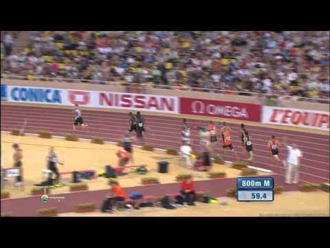 Abraham Kipchirchir ROTICH 1:43.13 - 800m Diamond League 2012 Monaco - MIR-La.com