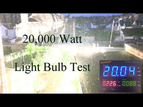 當一個燈泡達到20,000w的時候,那光度根本是閃光彈的級數了吧!