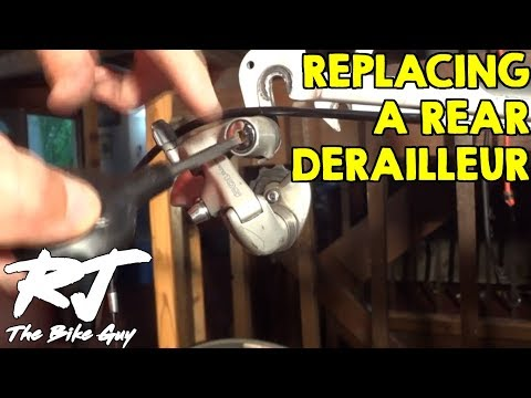 derailleur - I show how to replace a rear bike derailleur. In the video, I replace the Shimano 105 Derailleur with a Shimano 600 model. It's a minor upgrade, but I have a...
