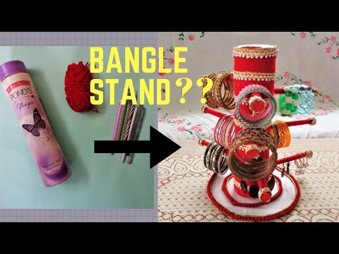 How To Make Bangle Stand At Home With Waste Materials | Easy DIY
