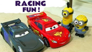 Video Minions Cars 3 Race Off McQueen vs Storm - Funny toy story with Hulk Spiderman Hot Wheels TT4U MP3, 3GP, MP4, WEBM, AVI, FLV Juli 2017