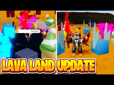NEW LAVA LAND IS INSANE (200Qa HP) | Unboxing Simulator