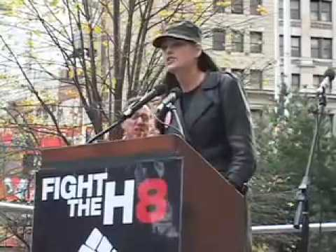 Kate Shindle speaks at Prop 8 Rally City Hall NYC