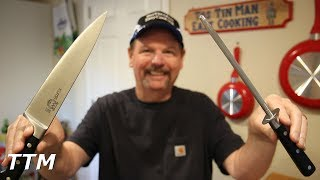 In this video, I demonstrate the new Kuma Steel Honing Rod Knife Sharpener and tell you how you can win one along with a Kuma Chef's Knife. Use this code to get a 20 % discount on Amazon.  http://bit.ly/tostinman-kumaBuy a Kuma Chef's Knife here. http://amzn.to/2uOXtMSBuy the Steel Honing Rod Sharpener here. http://amzn.to/2sK8nXO