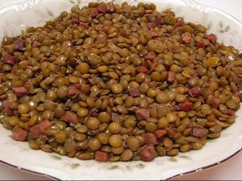 Betty's Slow Cooker Lentils Seasoned With Ham