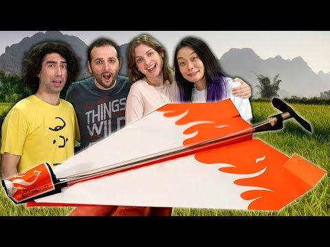 Imagens de calor - Motor para avião de papel? Nós testamos! ft. Japão Nosso de Cada Dia