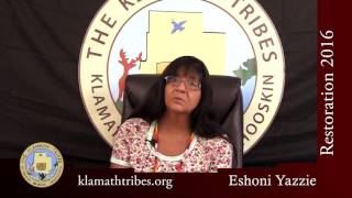 Restoration 2016 - What does Restoration mean to me?- Eshoni Yazzie