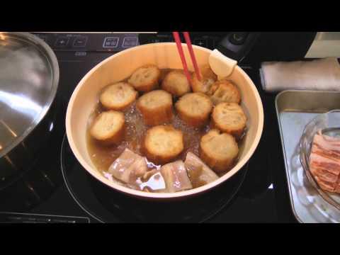 仙台麸と豚バラの煮物