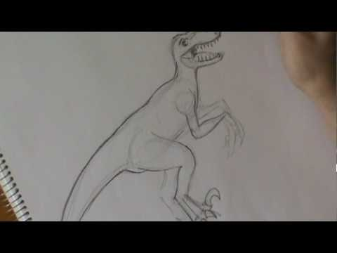 Velociraptor Drawing (real time)