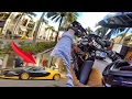 foto WHEELIE NEXT TO A BUGATTI VEYRON!!