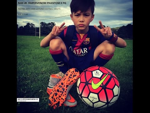 Nike Jr. Hypervenom Phantom II FG Kids - Play Test On Feet