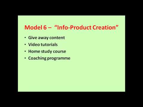 Info Product Creation webinar model