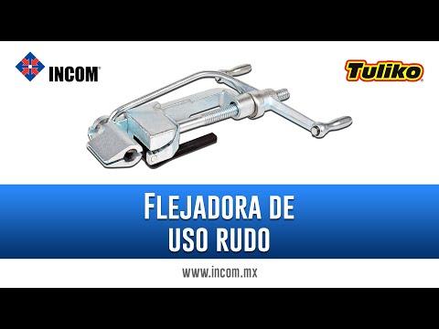 Flejadora de uso rudo marca Tuliko | Instalación aérea | Flejado de poste