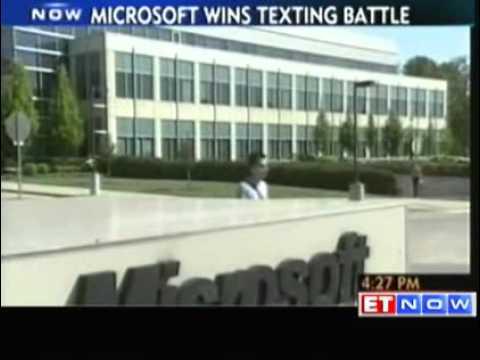 , title : 'Microsoft wins texting battle against Motorola'
