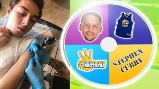 If the Wheel lands on tattoo....I have to get a Steph Curry TattooI Got a Kevin Durant Tattoo: https://www.youtube.com/watch?v=gEX_goebzys