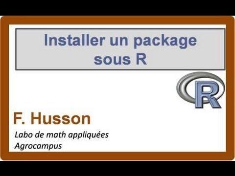 comment installer un package r