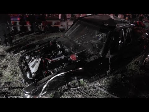 Roll cage likely saved the life of this Mustang racer