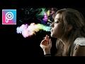 TUTORIAL edit asap rokok berwarna menggunakan picsart di Android / hp