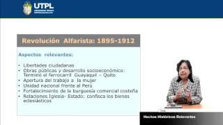 UTPL HECHOS HISTÓRICOS RELEVANTES [(TODAS LAS CARRERAS)(REALIDAD NACIONAL)]
