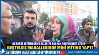 AK Parti ve Başkan Murat Aydın'ın Beştelsiz Mini Mitingi