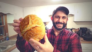 Video The EASIEST Bread EVER!  Crunchy, No Knead Recipe. MP3, 3GP, MP4, WEBM, AVI, FLV Juli 2019