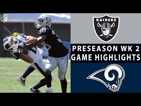 Raiders vs. Rams Highlights | NFL 2018 Preseason Week 2