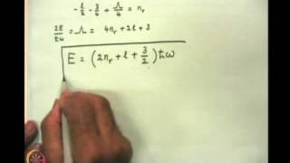 Mod-06 Lec-23  3d Oscillator&Dirac's Bra And Ket Algebra