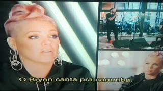 Christina Aguilera & Pink coaching Bryan Bautista on The Voice