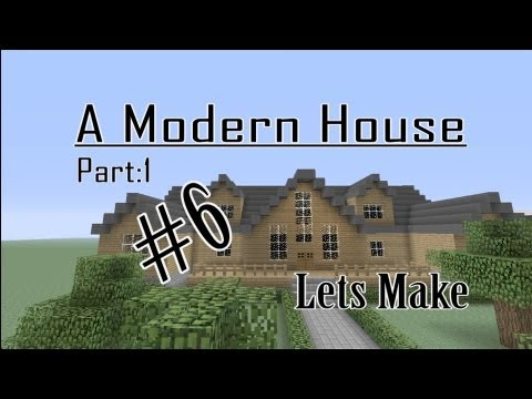 Minecraft Lets Make a Modern Cabin Part ( 1 of 2 ) House #6
