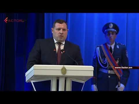 ՔԿ նախագահ Հ.Գրիգորյանը, Ոստիկանության օրվան նվիրված հանդիսավոր նիստում, պարգևատրել է մի շարք աշխատակիցների (տեսանյութը՝ Faktor.am-ի )