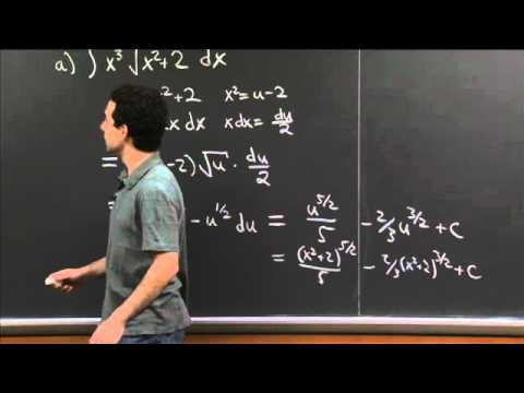 Integration Practice III | MIT 18.01SC Single Variable Calculus, Fall 2010